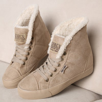 Women Snow Boots Fashion Winter Boots Botas Mujer Fur Snow Shoes Women Ankle Boot Flat Heels Shoes Warm Ladies Women Boots