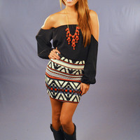 PRE-ORDER: Make Me Part Of The Tribe Skirt: Red | Hope's