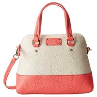Kate Spade PXRU4890-923 Women's Grove Court Maise Cement/Surprise Coral Leather Shoulder Bag