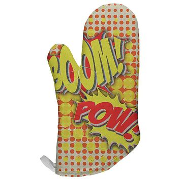 Boom Pow Vintage Comic Book All Over Oven Mitt