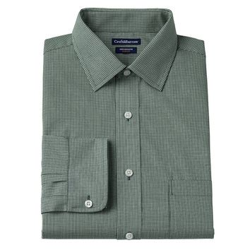 Croft & Barrow Classic-Fit Broadcloth Checked Dress Shirt - Men, Size: