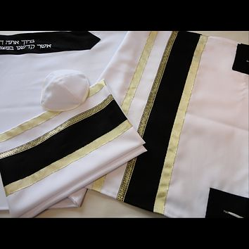 Black and Gold Bar Mitzvah Tallit