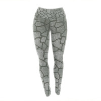 "Heidi Jennings ""Gray Snake Skin"" Grey Yoga Leggings"