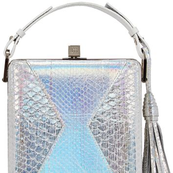 Charles iridescent elaphe box bag