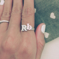 Initial Ring, Personalized Ring, Letter Ring