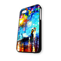 Walking in the Rain Painting iPhone 4/4S Case