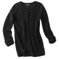 Mossimo® Women's Cable High-Low Pullover Sweater - Assorted Colors