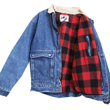Denim Flannel Lined Jacket