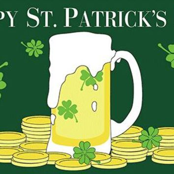 Happy St Patricks Day 3'x5' Polyester Outdoor Flag