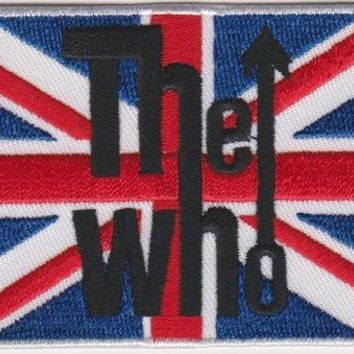 The Who Iron-On Patch British Flag Union Jack Logo