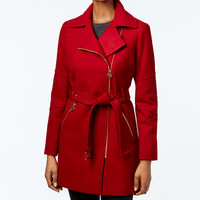 MICHAEL Michael Kors Petite Asymmetrical Coat, Only at Macy's | macys.com