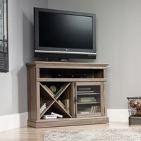 "Sauder Barrister Lane Corner Entertainment Stand for TVs up to 42"", Salt Oak - Walmart.com"