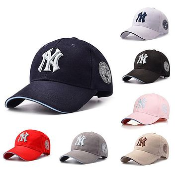 Fashion NEW YORK YANKEES NY 5230 Black White Cap MLB Baseball Fitted Hat Hip-hop