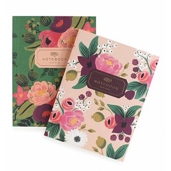 Pair of Vintage Blossoms Notebooks