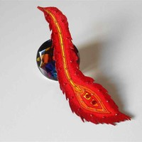 New Begining Fantasy Phoenix Feather Leather Bookmark