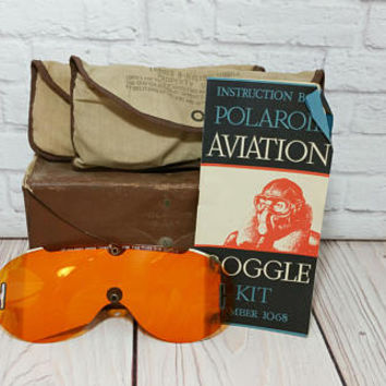 Vintage World War II Polaroid Aviation Goggle Kit Lenses