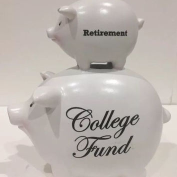 C.M. Redwine 2006 Retirement College Fund Ceramic Smooth Surface Coin Piggy Bank