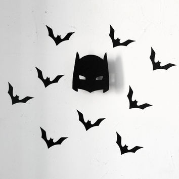 Cool bat man wooden clothes hook for boys room wall decorate children room ECO friendly hanger hook