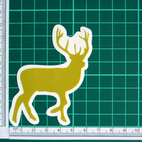 Abstract Deer Shape Sticker Decal