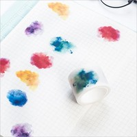30mmX7m kawaii watercolor Blooming  paper tape DIY washi tape decoration tape masking tape office Stationery sticker gifts