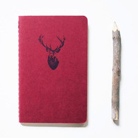 Buck deer gift, pocket journal, nature moleskine