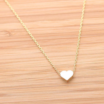 tiny HEART necklace,(3 colors) | girlsluv.it
