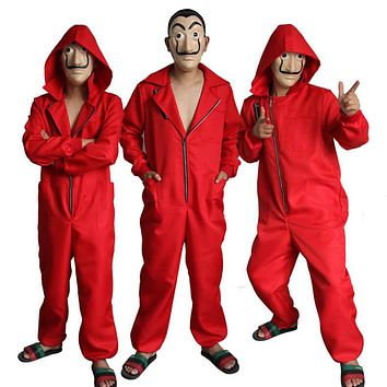 Dali Movie The House of Paper La Casa De Papel Cosplay Costume With Free Mask