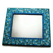 Mosaic Wall Mirror, Wall Art - Blue, Turquoise, Teal