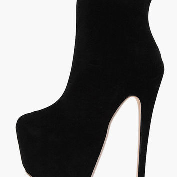 Round Toe Platform Stiletto Heel Sky High Club Booties