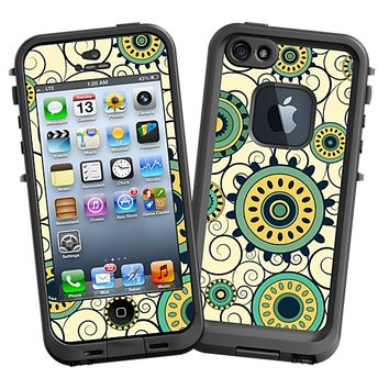 Swirls Yellow Skin for the iPhone 5 Lifeproof Case by skinzy.com