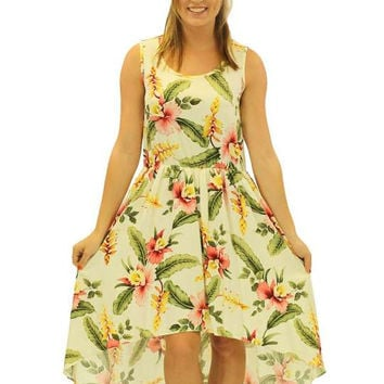 Orchid Pu'a Mid Length Tropical High Low Dress