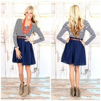Gotcha Where I Want You Dress Navy - Modern Vintage Boutique