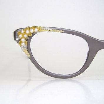 Vintage 60s Tura Cat Eye Eyeglasses Frame by Vintage50sEyewear