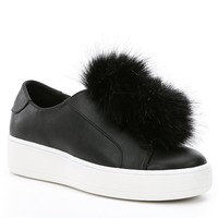 Steve Madden Breeze Faux Fur Pom Pom Sneakers | Dillards