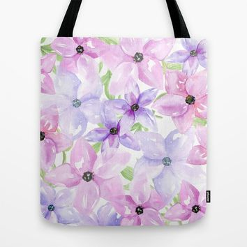 clematis vines Tote Bag by Sylvia Cook Photography