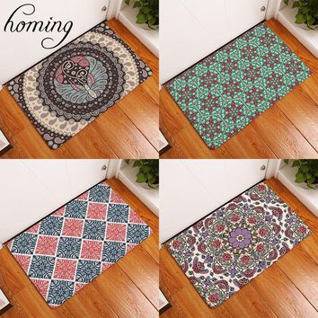 Autumn Fall welcome door mat doormat Homing New Arrive in Front of s Psychedelic Dizzy Indian Mandala Geometric Flower Rugs Living Room Bedside Foot Pads AT_76_7