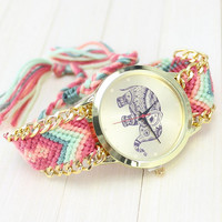 fashion  Style Knitting watch