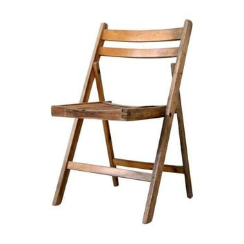 Pre-owned Vintage Wood Folding Chair