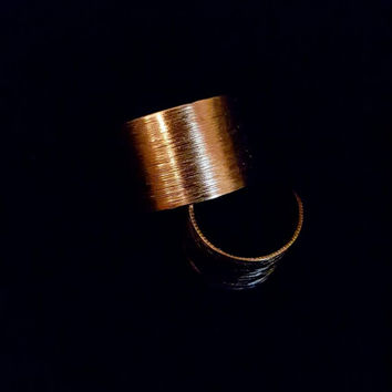 Hand Distressed Gold Cuff Statement Rings.