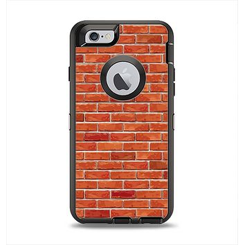The Bright Red Brick Wall Apple iPhone 6 Otterbox Defender Case Skin Set
