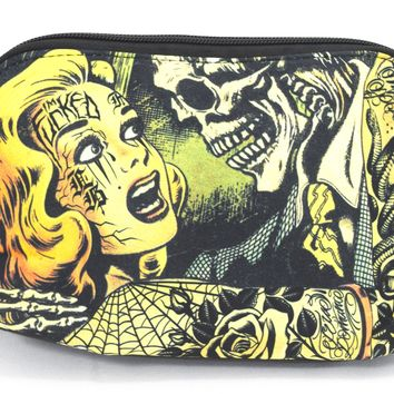 Liquorbrand Horror B Movie Cartoon Art Travel Pouch Cosmetic Bag