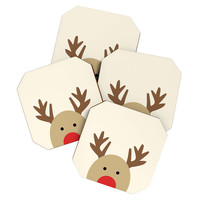 Allyson Johnson Reindeer Coaster Set