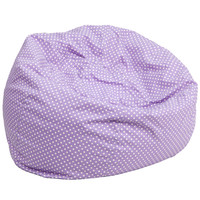 Oversized Lavender Dot Bean Bag