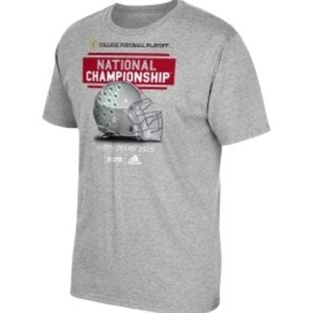 DCCKG8Q NCAA Ohio State Buckeyes Adidas Playoff National Championship Bound Grey Shirt