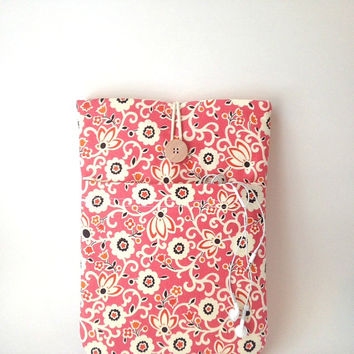 Coral Floral iPad Pro Case, iPad Air 2 or 1 Sleeve, iPads 2 3 4 Pocket, Tablet Gadget Cover iPad Bag Pouch Sac Pink Orange Dandelion Flower