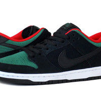 Nike SB Dunk Low Pro-Black/Gorge Green/Chall Red