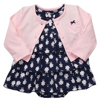 Carter's Girls 2 Piece Cardigan and Floral Dress Set
