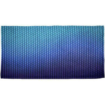 CREYCY8 Halloween Blue Ice Dragon Scales Costume All Over Beach Towel