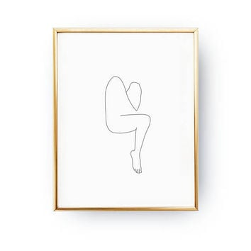 Abstract Female Figure, Woman Art, Sketch Art, Continuous Line, Woman Figure, Simple Fashion, Black And White, Woman Body, Minimalist Art