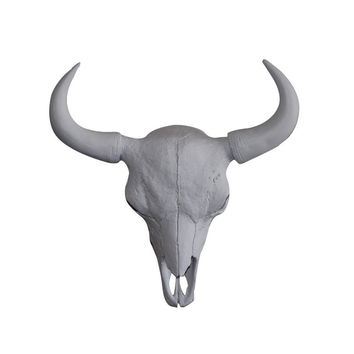 The Large Yellowstone Skull | Buffalo Bison Skull | Faux Taxidermy | White Resin